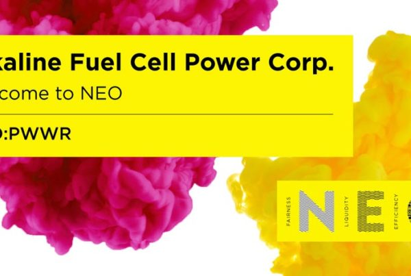 Fuel cells works, Alkaline Fuel Cell Power Corp. Begins Trading on the NEO Exchange