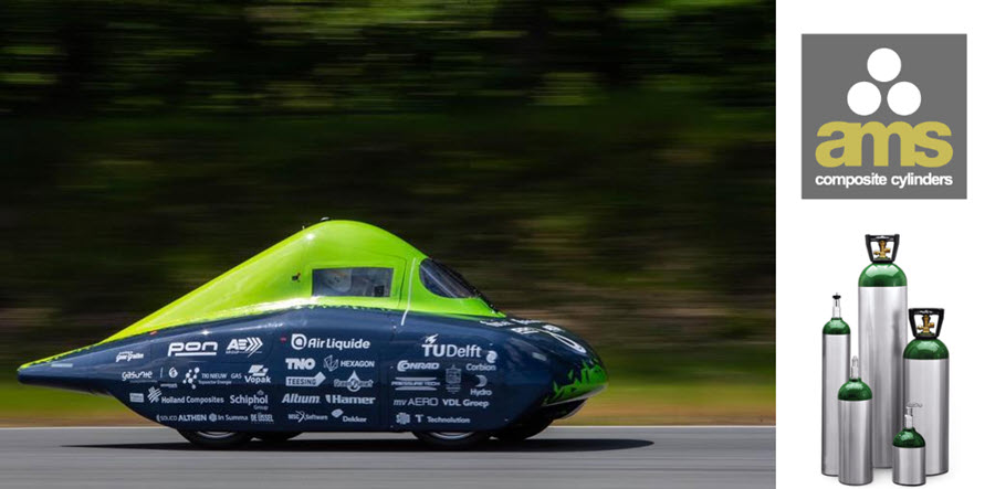 fuel cells works, Eco-Runner Sets New Hydrogen Distance Record With AMS Composite Cylinders