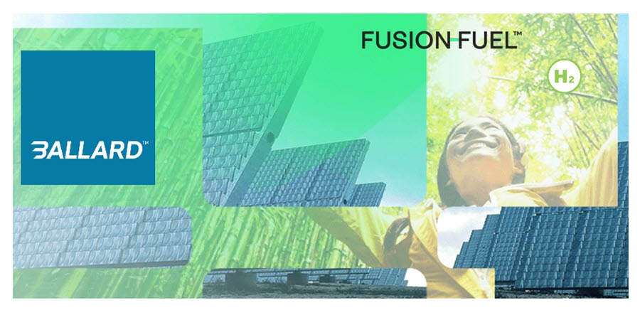 Fuel Cells Works, Ballard to Provide Fuel Cell System for Fusion-Fuel's H2Evora Hydrogen Production Project in Portugal