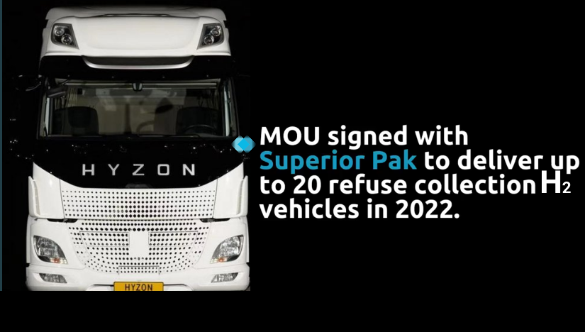 fuel cells works, Hyzon Motors Partners with Superior Pak to Supply 20 Hydrogen Fuel Cell Powered Refuse Trucks