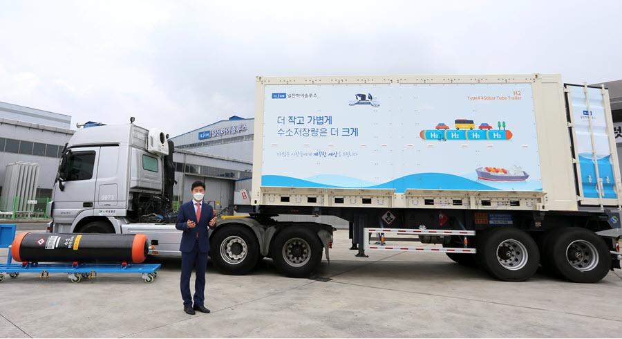 Fuel Cells Works, Hydrogen's Economy Artery: Iljin Hisolus Launches Type 4 Hydrogen Tube Trailer