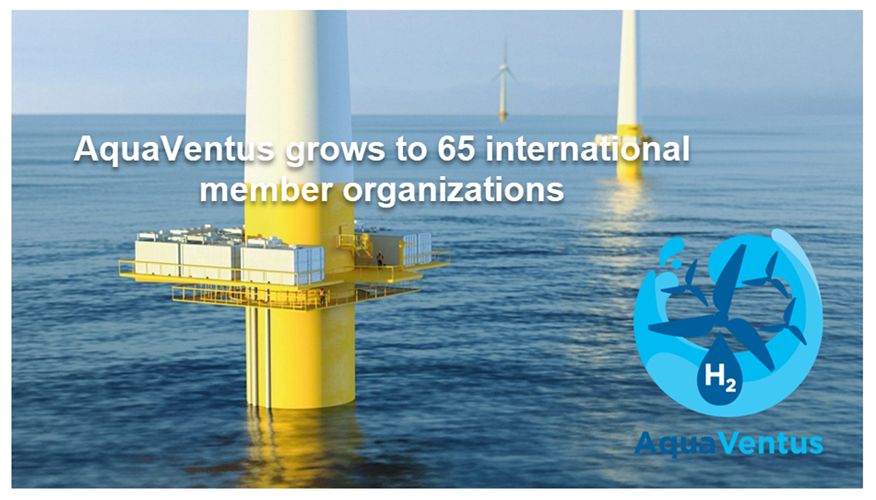 Fuel CellsWorks, Global Pioneer for Green Hydrogen From Offshore Wind Electrolysis AquaVentus Grows to 65 Members