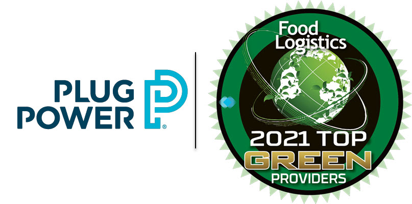 Fuel Cells Works, Plug Power Named to Food Logistics' Top Green Providers List for Fifth Year in a Row