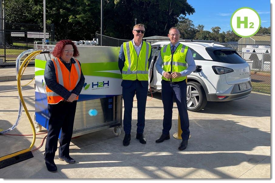 Fuel Cells Works, Queensland: Redlands First Hydrogen Station Opens as Five New Hydrogen Powered Hyundai Nexo's Join Govt Fleet