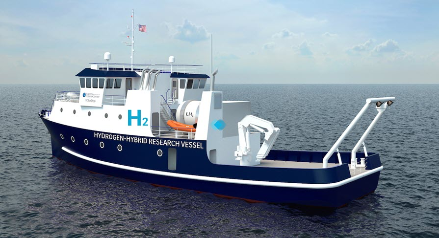 Scripps Institution of Oceanography at UC San Diego Receives 35M for First of a Kind Hydrogen Vessel