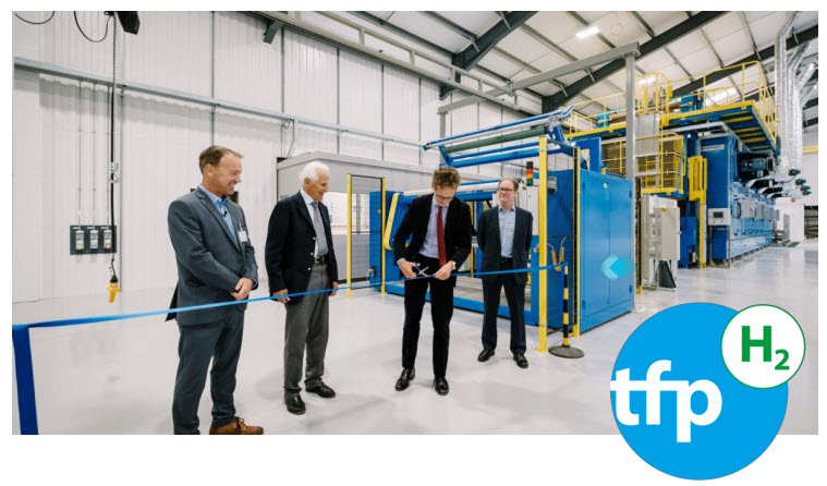 Fuel Cells Works, TFP Opens New Manufacturing Line Increasing Nonwoven Capacity & Markets that Include Hydrogen Fuel Cells