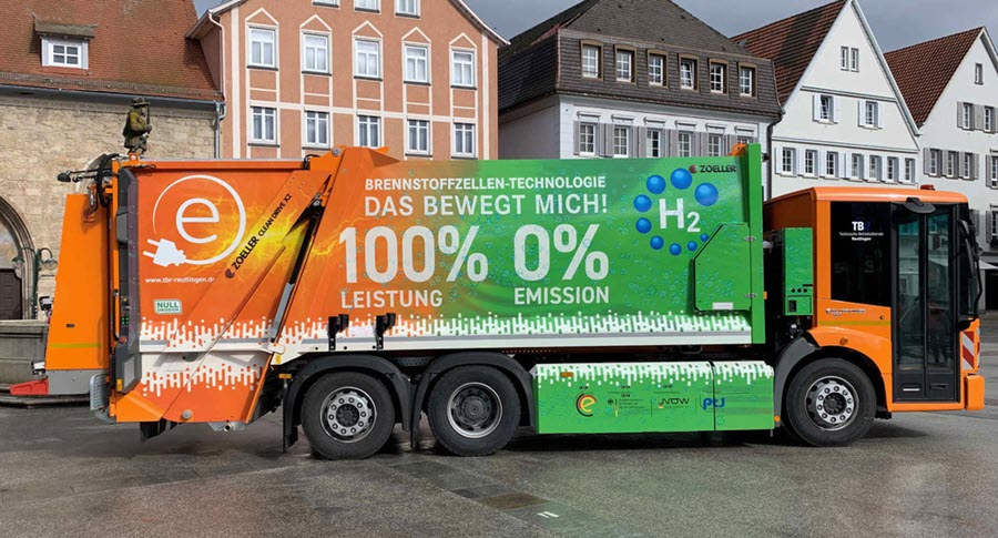 Fuel Cells Works, Two New Refuse Vehicles with Hydrogen Fuel Cell Drives in Freiburg