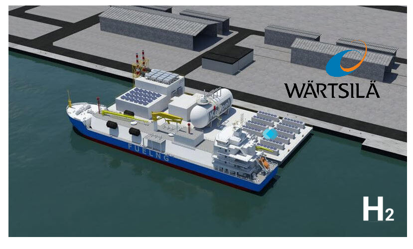 Fuel Cells Works, Wärtsilä to Provide Engines Running on Hydrogen Blends for Keppel O&M's Floating Living Lab