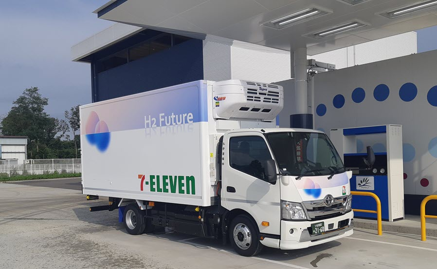 Fuel Cells Works, Seven-Eleven Japan Starts New Demo Project for its Hydrogen Fuel Cell Light Delivery Truck
