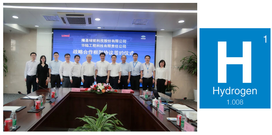 Fuel Cells Works, A 100MW Electrlolyser for Hydrogen Production Contract Was Reached Between Longji and Hualu