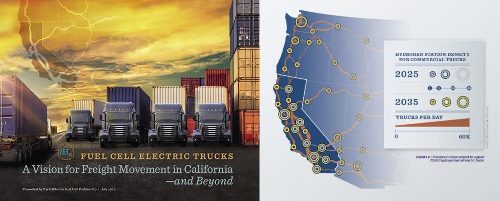 CA Fuel Cell Partnership Fuel Cell Truck vision cover and map