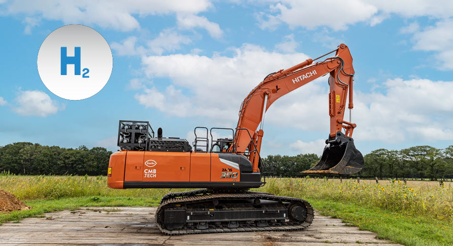 Fuel Cells Work, CMB.TECH and Luyckx Present Hydrogen-Powered Excavator