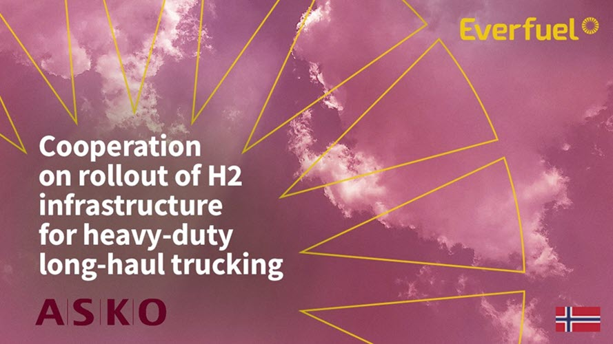 Fuel Cells Works, Everfuel and ASKO Plan Cooperation on Rollout of H2 Infrastructure for Heavy-duty Long-Haul Trucking in Norway