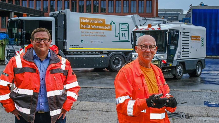 Fuel Cells Works, First Garbage Truck with Hydrogen on the Road in Bielefeld