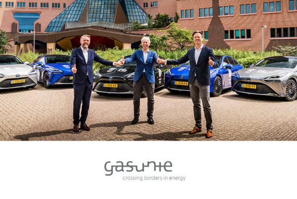 Fuel Cells Works, Gasunie Receives 5 New Toyota Hydrogen Fuel Cell Mirai's