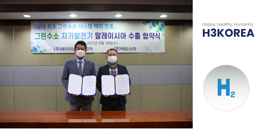 Fuel Cells Works, H3 Korea to Supply Korea's First Green Hydrogen Generator to Malaysia
