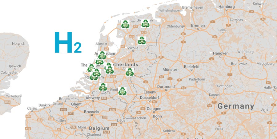 Fuel Cells Works, Hydrogen Filling Stations in the Netherlands as of August 2021