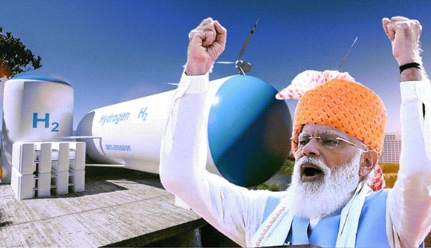 Fuel Cells Works, India's PM Modi Announces Hydrogen Mission