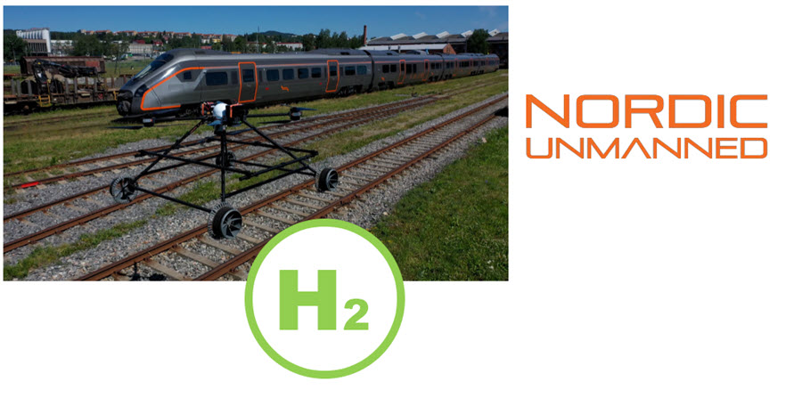 Fuel Cells Works, Nordic Unmanned Unveils the Hydrogen Fuel Cell Powered Staaker Railway Drone