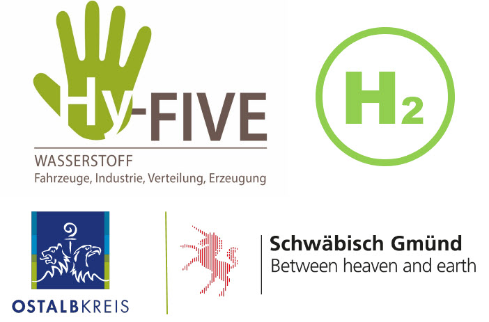 """fuel cells works, Ostalbkreis and the city of Schwäbisch Gmünd Funded as part of the model region """"HyFiVE - hydrogen economy in rural and urban areas"""""""