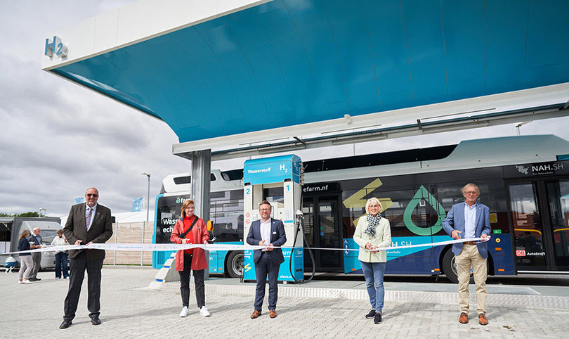 Fuel Cells Works, The First Public Green Hydrogen Filling Station for Buses, Cars & Trucks Starts Operation in Niebüll