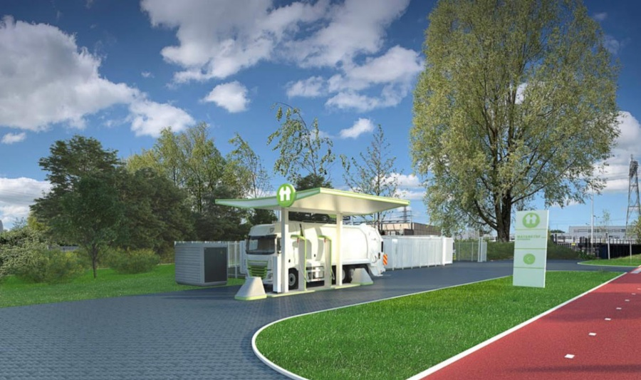 Fuel Cells Works, Century Autogroep And Holthausen Clean Technology Build Green Hydrogen Filling Station In Groningen Together