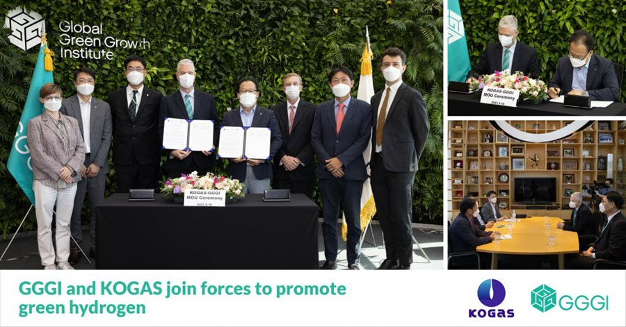 Fuel Cells Works, Korea: GGGI and KOGAS Join Forces to Promote Green Hydrogen