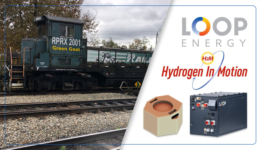 Fuel Cells Works, Loop Energy and Hydrogen In Motion Inc. (H2M) Announce Project in British Columbia to Convert Diesel Electric Locomotive to Hydrogen Electric
