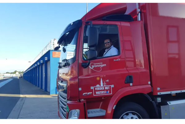 Transporters come to test the first hydrogen truck on the Albi circuit