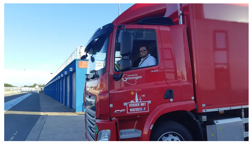 Fuel Cells Works, France: Transporters Come to Test the First Hydrogen Truck on the Albi Circuit