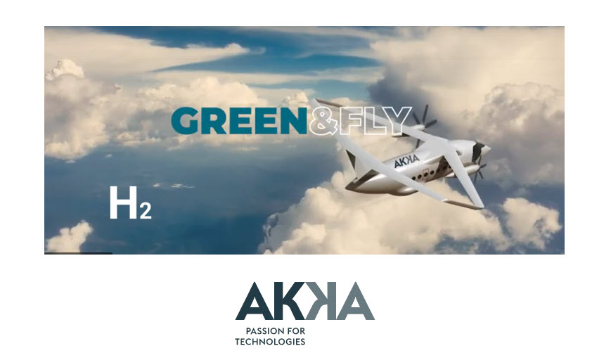 Fuel Cells Works, AKKA Technologies Reveals Green&Fly, its 100% Electric Hydrogen Fuel Cell-Powered Concept Aircraft