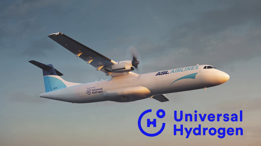 Fuel Cells Works, ASL Aviation Holdings Signs LOI with Universal Hydrogen, Becoming a Launch Customer for Hydrogen-Powered ATR 72 Cargo Aircraft