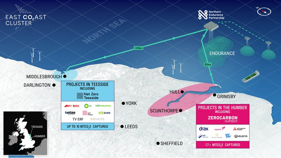 East Coast Cluster Selected as One of the UKs First Two Carbon Capture Storage Projects