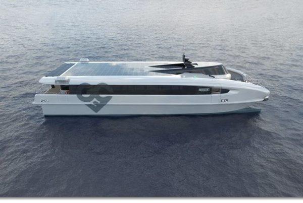 Echandia Hydrogen Fuel Cell Powered Catamaran Hydrogen Fuel Cell
