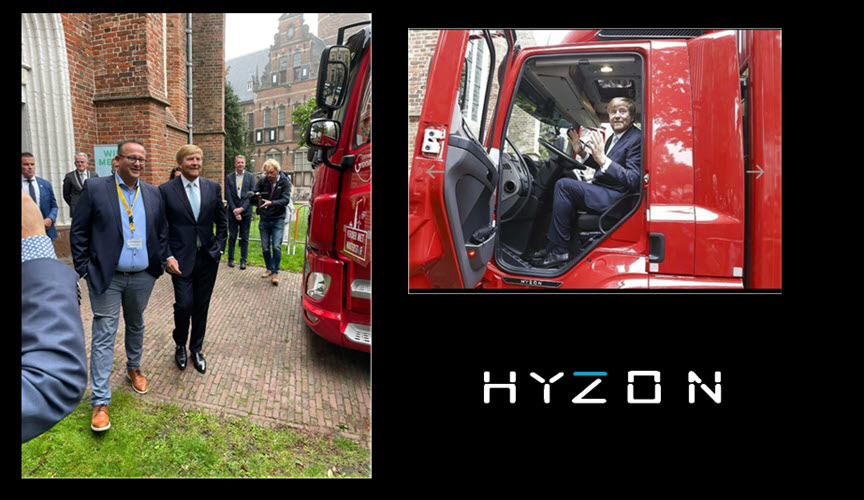 Fuel Cells Works, King Willem-Alexander of Netherlands Impressed with Hyzon Hydrogen Fuel Cell Powered Truck
