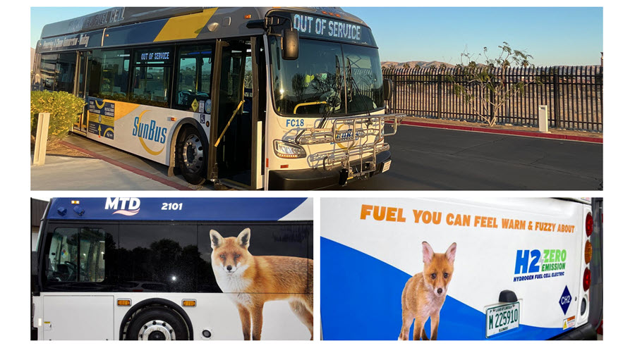 Fuel Cells Works, Champaign-Urbana Unveils America's First 100% Renewable Hydrogen Fleet With New Flyer Xcelsior Buses