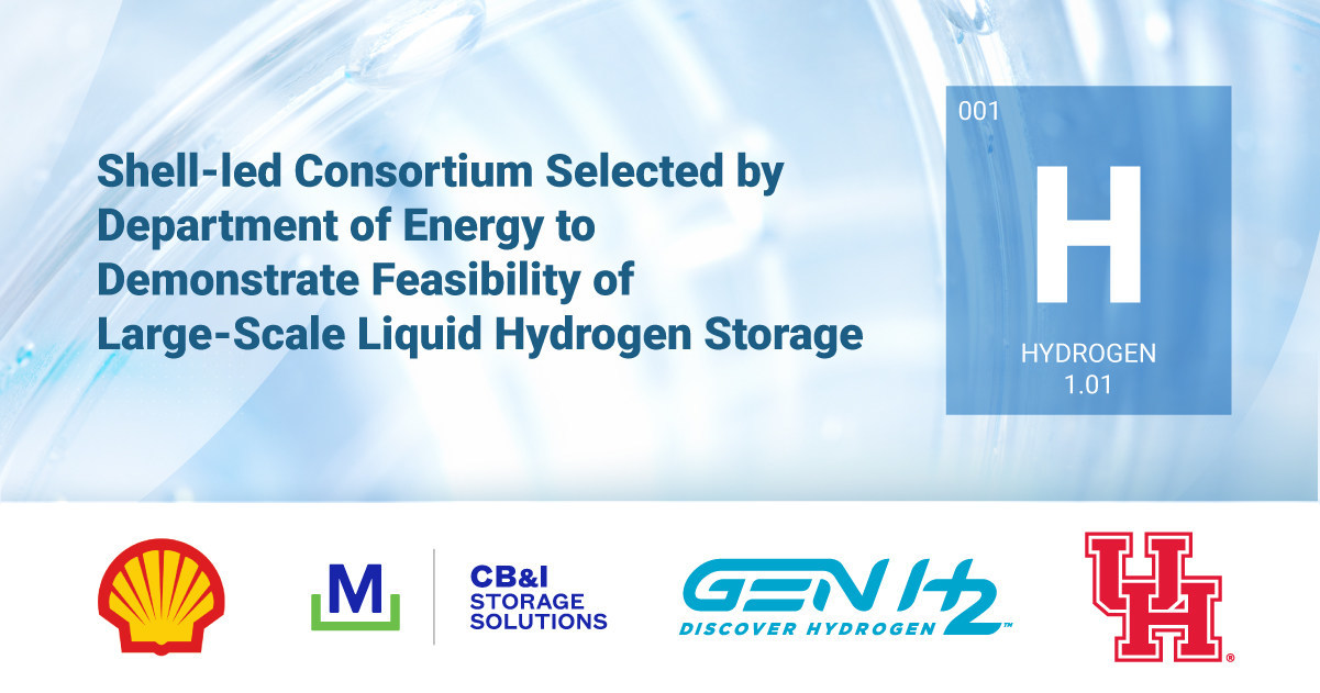 Fuel Cells Works, Shell-Led Consortium Selected by DOE to Demonstrate Feasibility of Large-Scale Liquid Hydrogen Storage