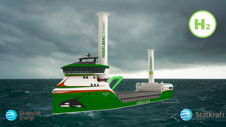 Norweigan Companies to Provide Worlds First Hydrogen Powered Cargo Ship With Green Hydrogen