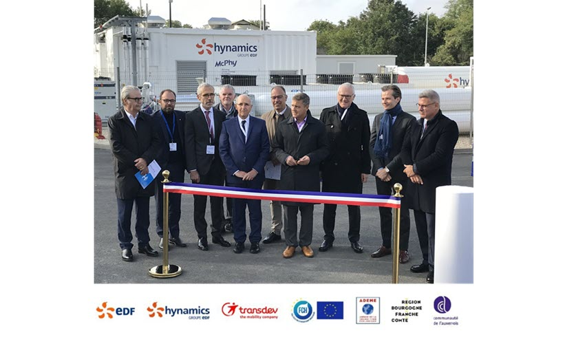 Fuel Cells Works, France: Auxerois Inagurates Largest Hydrogen Production and Distribution Site in France