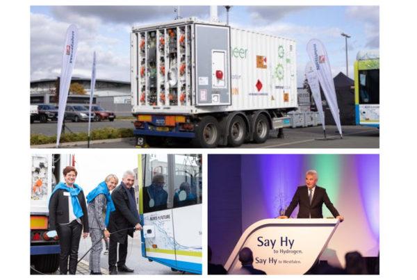 Fuel Cells Works, Westfalen Presents Mobile Hydrogen Filling Station - NRW Minister of Economics Tests Future Technology